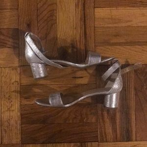 Metallic sandals 7.5 barely used